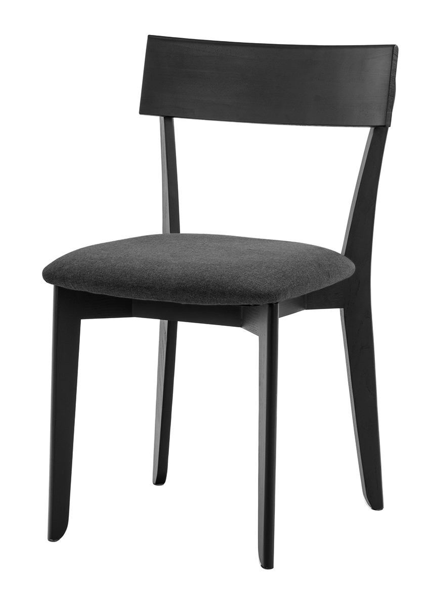 856 dining chair, ash black, textile black 1