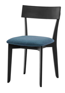 856 dining chair, ash black, textile blue 1