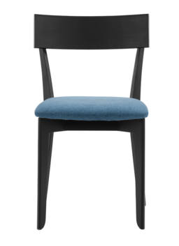 856 dining chair, ash black, textile blue 2
