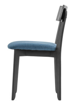 856 dining chair, ash black, textile blue 3