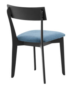 856 dining chair, ash black, textile blue 4