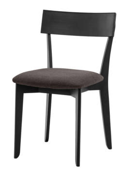 856 dining chair, ash black, textile brown 1