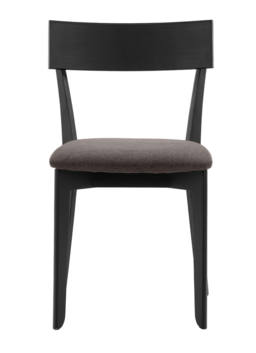 856 dining chair, ash black, textile brown 2