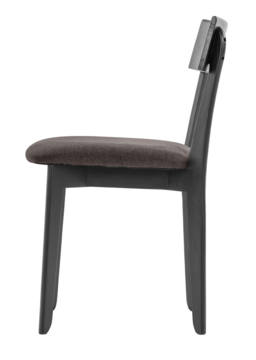 856 dining chair, ash black, textile brown 3