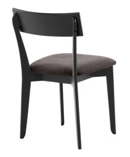 856 dining chair, ash black, textile brown 4