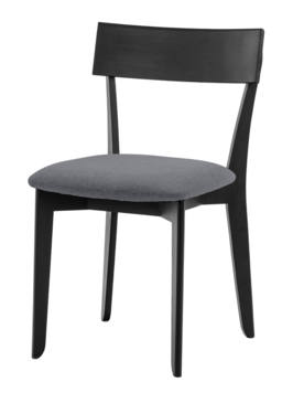 856 dining chair, ash black, textile slate grey 1