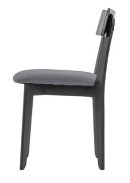 856 dining chair, ash black, textile slate grey 3
