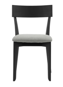 856 dining chair, ash black, textile virgin dustgrey 2