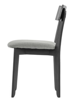 856 dining chair, ash black, textile virgin dustgrey 3