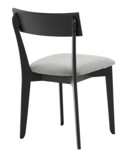 856 dining chair, ash black, textile virgin dustgrey 4