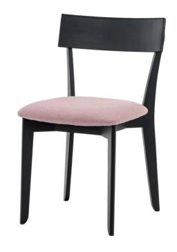 856 dining chair, ash black, textile virgin purple (1)