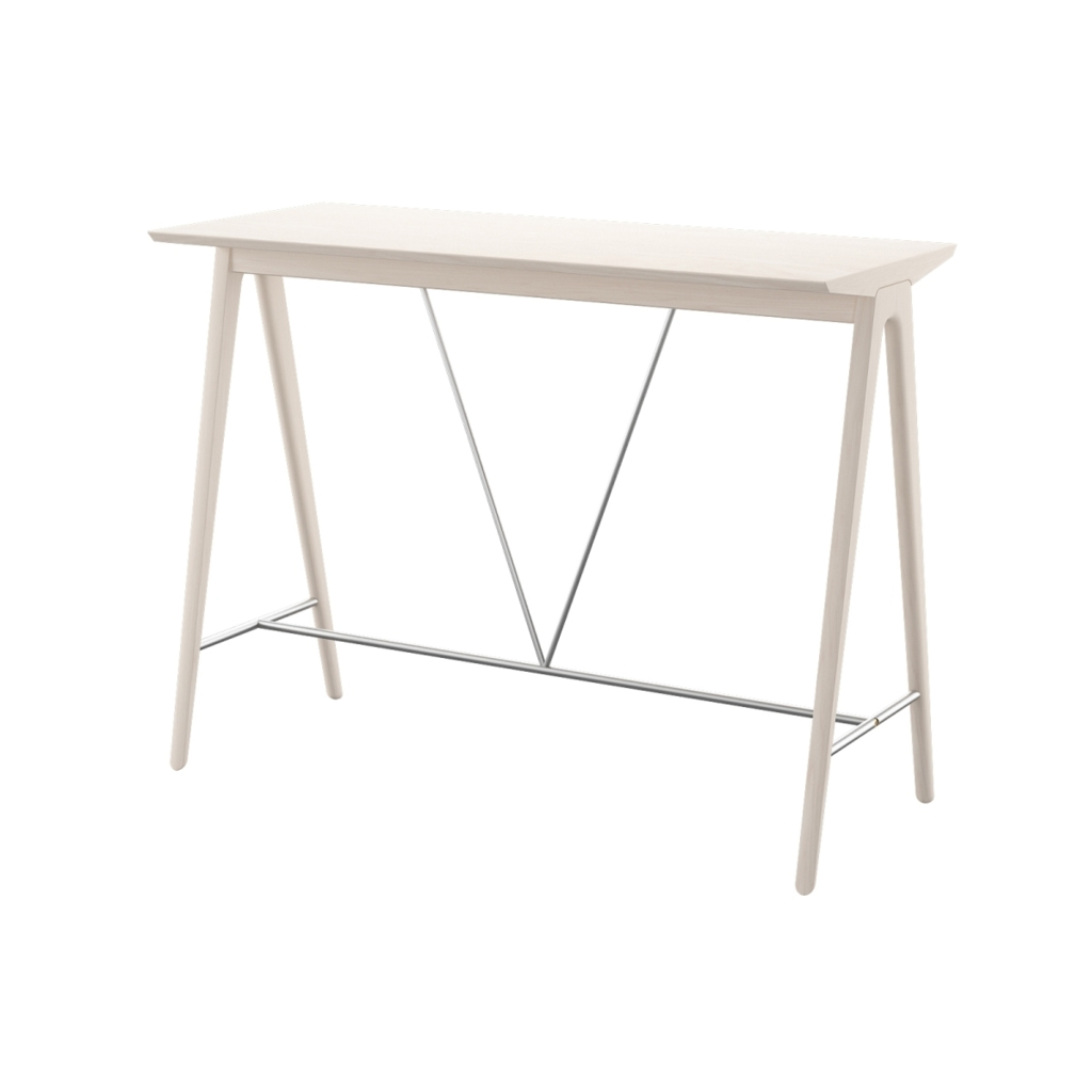 979 - bar table 120 white wash  01