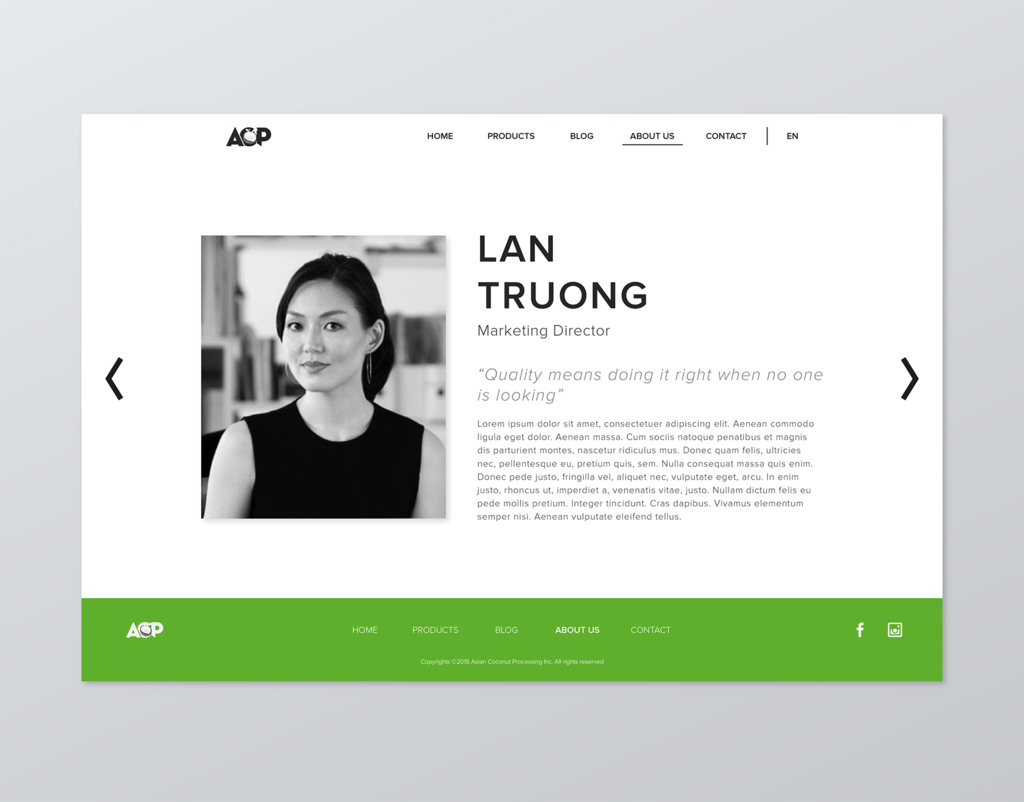 ACP Web Design Concept - Team Card