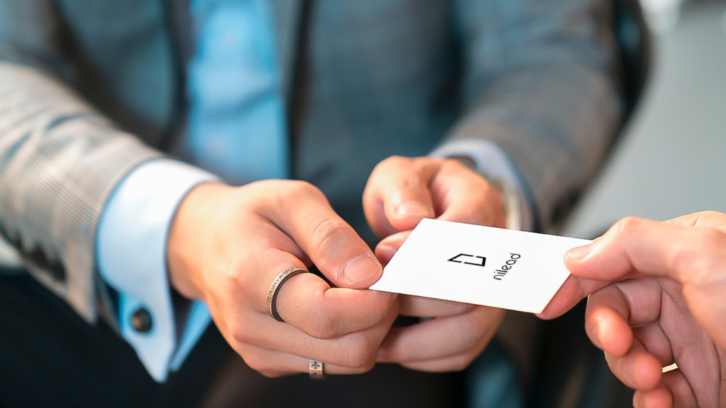 Business card hand-over etiquette