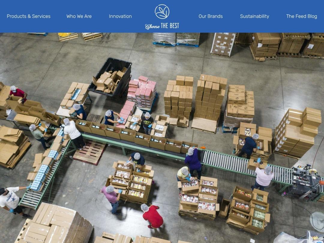food-beverage-manufacturing-website-homepage-design-nilead-top-banner