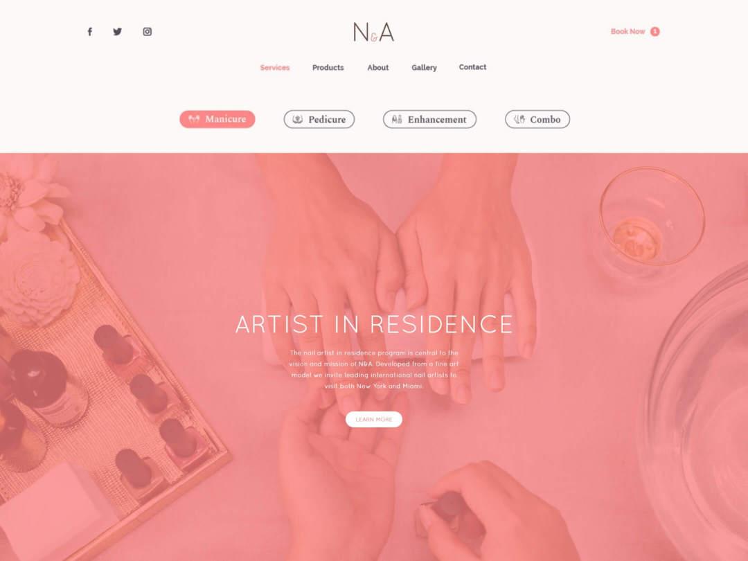 nail salon business website design