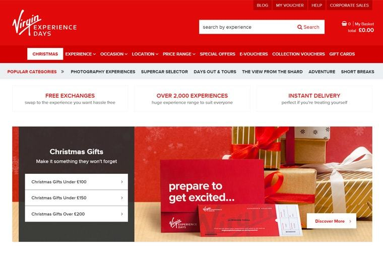 Virgin online booking website