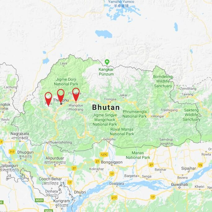 best-of-bhutan-tour-map