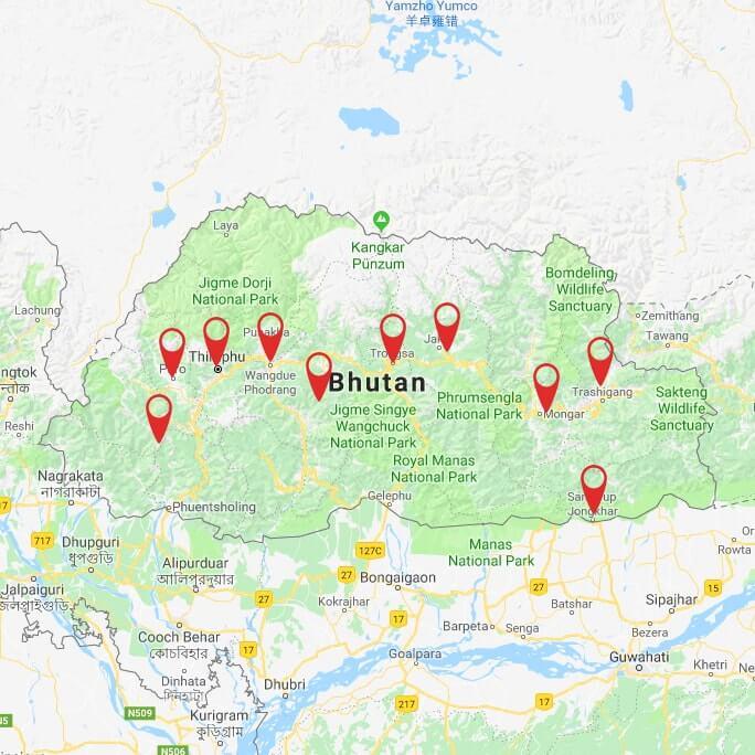 Bhutan Overland Tour: Paro to Samdrup Jongkhar