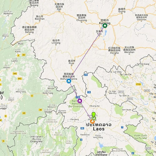 china-laos-overland-tour-yunnan-to-luang-prabang-adventure-map