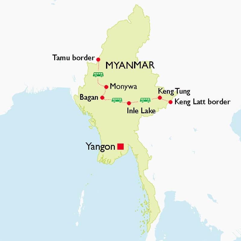 Laos Myanmar India Border Crossing Tour