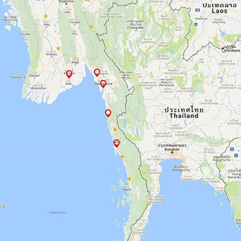 Southern Myanmar Cycling Tour